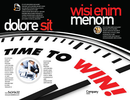 Time to Win Brochure Template Outer Page
