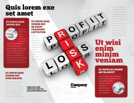 Profit and Risk Brochure Template, Outer Page, 07669, Financial/Accounting — PoweredTemplate.com
