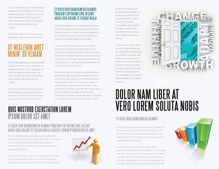 Improving Progress Brochure Template, Inner Page, 07681, Consulting — PoweredTemplate.com