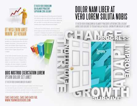 Improving Progress Brochure Template, Outer Page, 07681, Consulting — PoweredTemplate.com