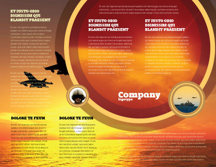 Aircraft Parade Brochure Template, Inner Page, 07701, Military — PoweredTemplate.com