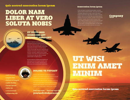 Aircraft Parade Brochure Template Outer Page