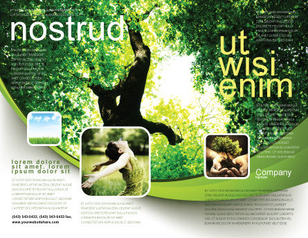 High Tree Brochure Template Outer Page