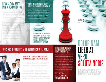 Chess King Ready To Fight Brochure Template, Outer Page, 07712, Education & Training — PoweredTemplate.com