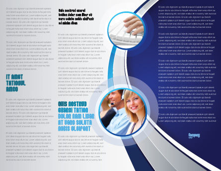 Computer Tech Help Brochure Template, Inner Page, 07726, Utilities/Industrial — PoweredTemplate.com
