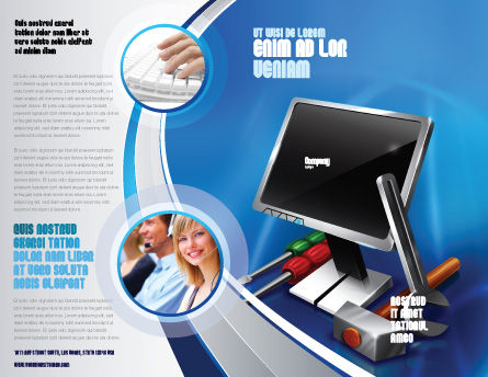 Computer Tech Help Brochure Template, Outer Page, 07726, Utilities/Industrial — PoweredTemplate.com