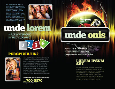 Music Energy Brochure Template, Outer Page, 07740, Careers/Industry — PoweredTemplate.com