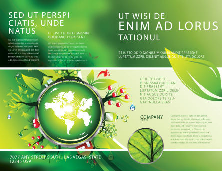 Blooming Earth Concept Brochure Template Outer Page
