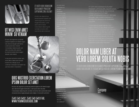 Prison Cell Brochure Template Outer Page