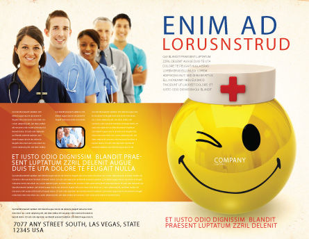 Modello Brochure - Dottore emoticon, Pagina Esterna, 07777, Medico — PoweredTemplate.com