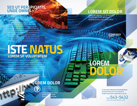 Keyboard Theme Brochure Template Outer Page