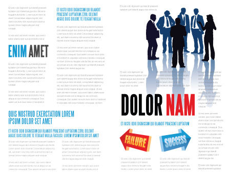 Failure and Success Brochure Template Inner Page