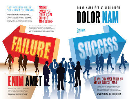 Failure and Success Brochure Template, Outer Page, 07789, Education & Training — PoweredTemplate.com