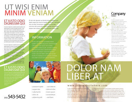 Little Girl Brochure Template, Outer Page, 07818, People — PoweredTemplate.com