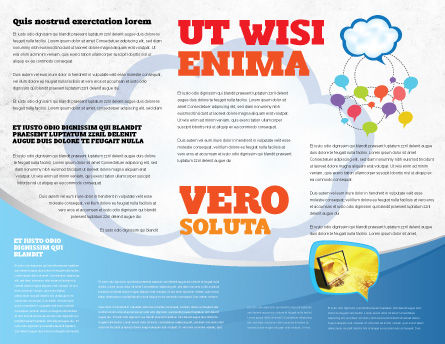 Wireless Community Brochure Template Inner Page