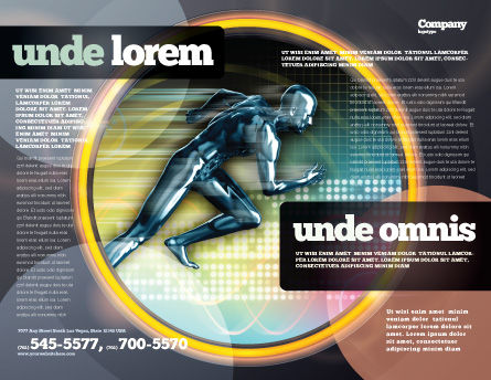 Running Iron Man Brochure Template Outer Page