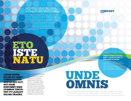 Dotted Blue Theme Brochure Template Outer Page