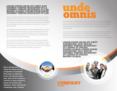 Business Building Brochure Template, Inner Page, 07965, Consulting — PoweredTemplate.com