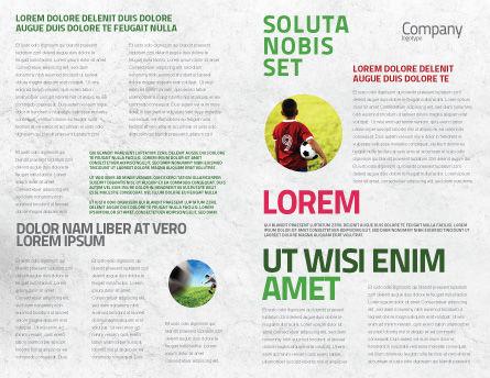European Football Field Brochure Template, Inner Page, 08032, Sports — PoweredTemplate.com