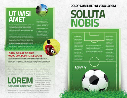 European Football Field Brochure Template Outer Page