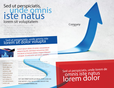 Blue Arrow Path Brochure Template, Outer Page, 08043, Business Concepts — PoweredTemplate.com
