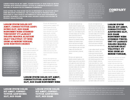 Business Plan Analysis Brochure Template, Inner Page, 08068, Consulting — PoweredTemplate.com