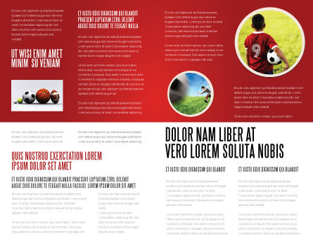Sport Balls Brochure Template Inner Page