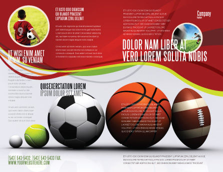 Sport Balls Brochure Template Design and Layout Download Now – Sports Brochure