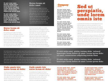 Touchscreen Phone Brochure Template, Inner Page, 08125, Technology, Science & Computers — PoweredTemplate.com