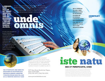 Typing Brochure Template, Outer Page, 08139, Technology, Science & Computers — PoweredTemplate.com