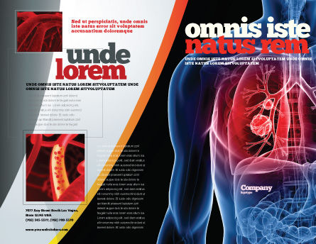 Lung Cancer Brochure Template Outer Page