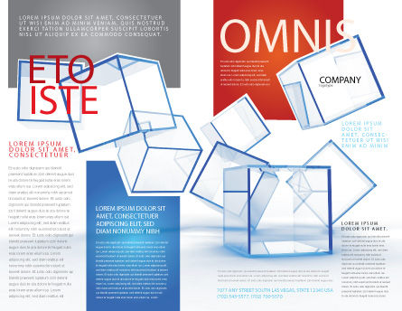 Glass Cubes Brochure Template, Outer Page, 08276, Business — PoweredTemplate.com