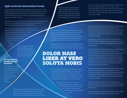 Deep Blue Theme Brochure Template, Inner Page, 08316, Abstract/Textures — PoweredTemplate.com