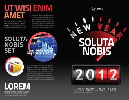 N Yr Speedometer Brochure Template, Outer Page, 08353, Business — PoweredTemplate.com