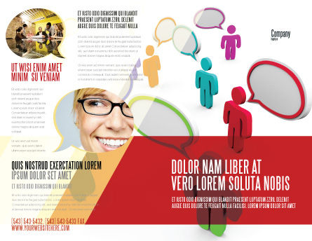 Communication Area Brochure Template, Outer Page, 08426, Telecommunication — PoweredTemplate.com
