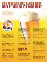 Food & Beverage: Modelo de Folheto - copo de cerveja #00750