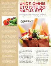 Food & Beverage: Grocery Bag Flyer Template #00972