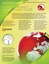 Global: Terrestrial Globe Flyer Template #01541