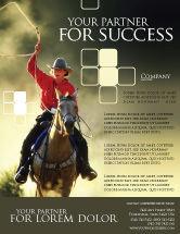 America: Cowboy Flyer Template #01588