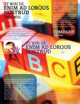 Education & Training: ABC Educational Cubes Flyer Template #01600