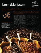 Food & Beverage: Koffiebonen In Een Zak Flyer Template #01613