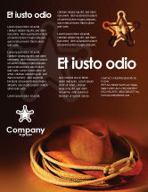 America: Cowboy Hat Flyer Template #01616