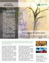 Nature & Environment: Waldbrand Flyer Vorlage #01636