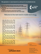 Utilities/Industrial: Power Line Flyer Template #01638