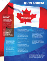 Flags/International: Canadian Flag Flyer Template #01654