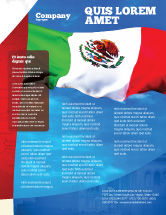 Flags/International: Mexican Flag Flyer Template #01716  Free Microsoft Word Flyer Templates