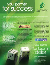 Art & Entertainment: Dice On A Green Cloth Flyer Template #01735