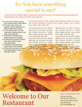 Food & Beverage: Fast Food Flyer Template #01741