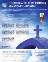 Religious/Spiritual: Blue Cross Flyer Template #01804