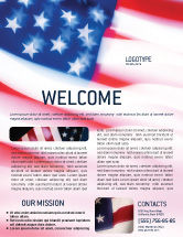 America: Flag of the United States of America Flyer Template #01851